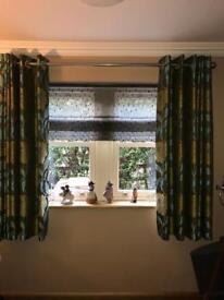 Handmade lined curtains and matching voile blind and fittings