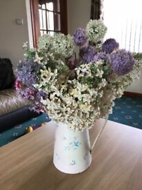 Soft Pinks, Purple and Cream Artifical Flower Display