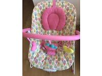Baby bouncer chair with music and vibration