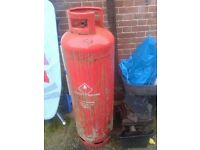 LARGE 47KG EMPTY PROPANE GAS BOTTLE CANISTER CONTAINER, CAN BE UPCYCLED TO WOOD BURNER BARBEQUE