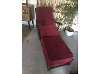 Ercol old colonial settee, chairs and footstool