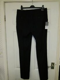 Topman Mens Navy Skinny Smart Trousers W32 L32 Brand New With Tags