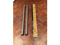 Roof Bars -M-Way Eagle Universal Aluminium 135cm RB1045 - From Qashqai but fits lots of other cars!