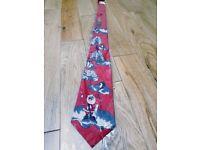 New Christmas xmas tie, ties blue or red featuring Santa and polar bear