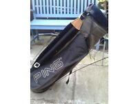 **** PING GOLF BAG WITH STAND AND HOOD ***
