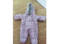 Baby girl pram suit