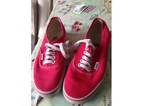 Vans canvas shoes size 7