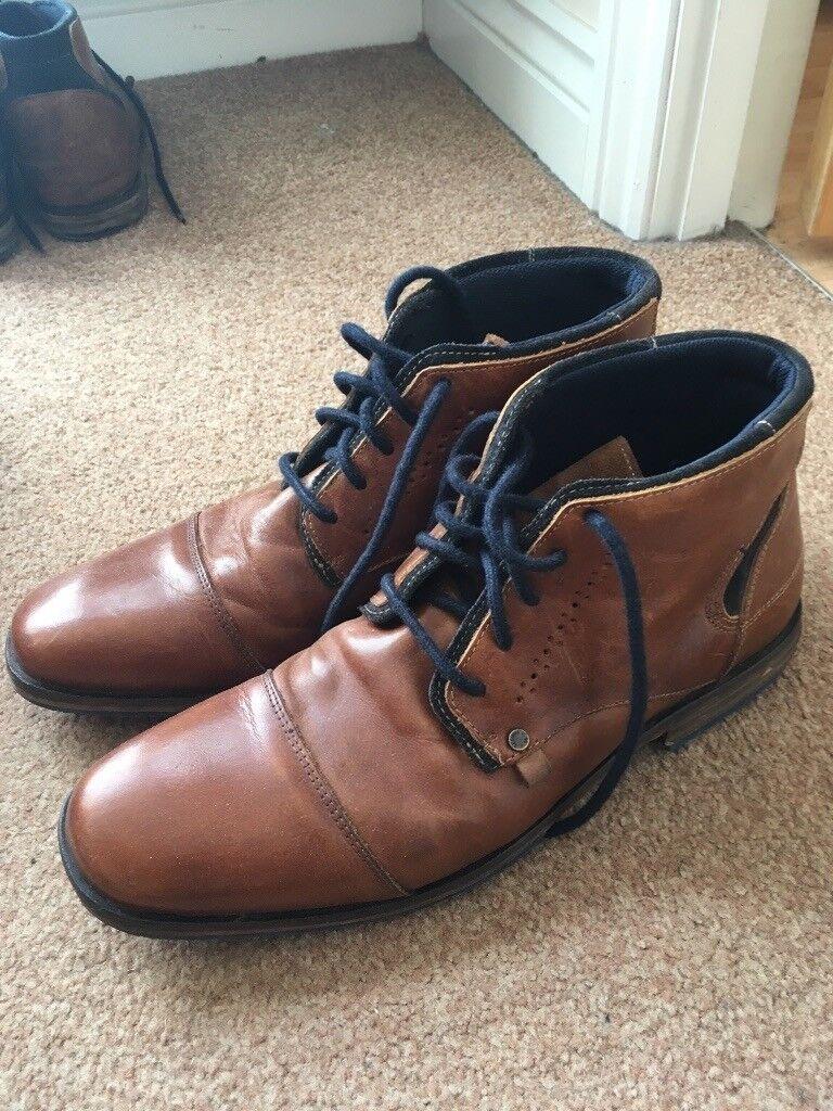 c7209264ee2 Dune London 'Choppa' Boots. Men's size 9/43 tan blue sole, leather boots. |  in Leith Walk, Edinburgh | Gumtree