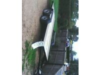 twin wheel car trailor low loader 14ft bed with ramps and lights