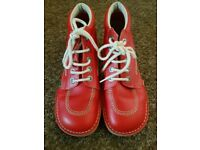 Ladies Red Kicker Boots Size 5