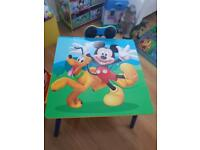Mickey Mouse Bundle, Desk, Toy Box and Toy Stand