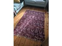 Red / Plum Patterned Rug