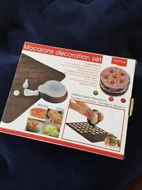 Macarons decoration set. Baking