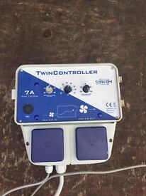 Cheshunt Hydroponics Store - used 7amp SMSCOM twin fan speed controller