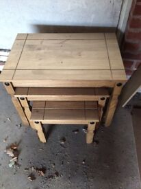 Nest of tables. Brand new, wooden