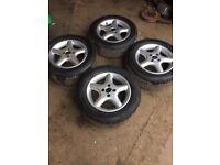 Genuine set of SMITHS VW CADDY 2001 Alloy wheels 195 60 r14