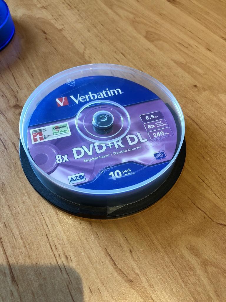 Verbatim 8x DVD+R DL discs pack of 10 | in Loughborough ... on