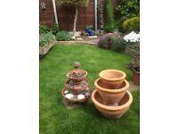 Two three tier garden pots