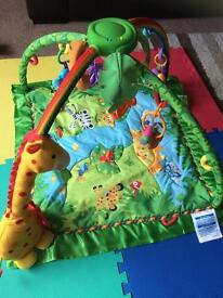 Fisher-price rainforest gym. Baby activity play mat.