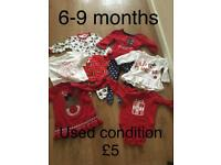 Christmas clothes 6-9 months
