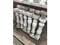 12 x marble heavy good quality pillars .