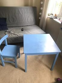 Kids table plus chair