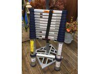 Telescopic aluminium ladders