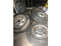 Transit 175/14 5 wheels and very good tyers