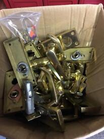 Brass style door handles