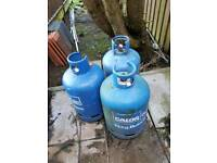 3 Empty Calor Gas Bottles