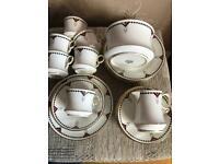Fine China Tea Set/ Royal Stafford - Art Deco - hand painted