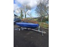 Miracle Sailing Dinghy - Great condition with road and launch trailers