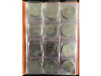 ORANGE Album for 96 COINS PERFECT for 50p and £1 SCHULZ COIN FOLDER BOOK POCKET + 26 OLYMPIC COINS.