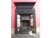 Immaculate cast iron fire place