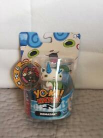 NEW - Hasbro - YO-KAI Watch - Komasan Figure and Medal - Anime Collectable Toy