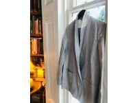 Jigsaw Irish Linen women's pinstriped trouser suit (as New)