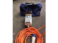 Camping RCD 16 amp power outlet