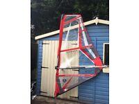 Kids windsurf 2m Tushingham Dino sail Boom mast Rig ( used once)