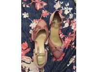 Pink wide fit heels