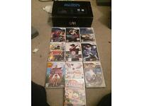 Black boxed Wii console and games