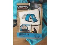 BRAND NEW ⛺️ Discovery Adventures 3-person tent + sleeping bag + Multi-tool