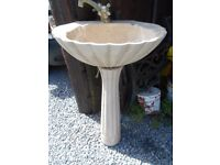 Antique French Sink Basin and Pedestal