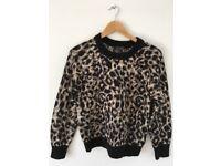 Topshop Leopard Print Jumper, size: EUR 36