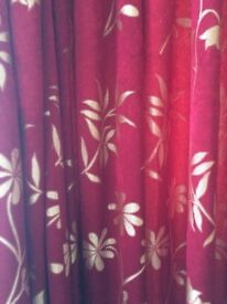 Maroon fully lined curtains X 2 pairs ONLY £45