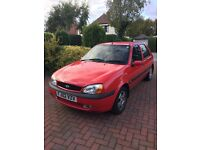 Ford Fiesta Freestyle 1.25ltr, 02 reg, red, 40800 miles, 9 months MOT left, good condition for age