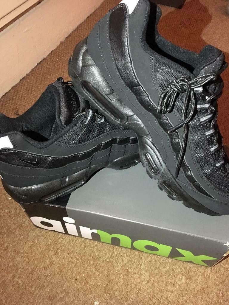 a65b42e500 SIZE 6 7 8 BRAND NEW NIKE AIRMAX 95 110 AIR MAX BOXED TRAINERS 95s 110s  BLACK (NOT) tn 90 97 Vapor