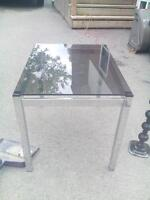 Glass & Silver End table