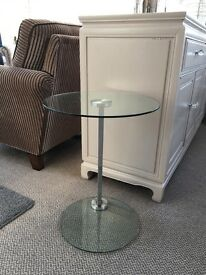 Sofa/laptop table - chrome and glass