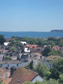 First floor one bedroomed flat with lovely sea view and view over Paignton . Parking space, GCH.