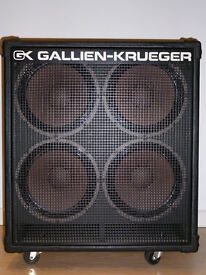 Gallien Krueger G-K 4x10 Bass Cab Cabinet Speakers on casters with cover